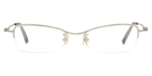 HA-604 Wilcox Rectangle silver glasses