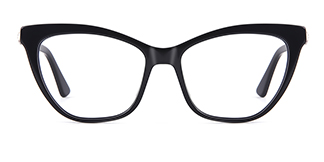 HL0048 Hazel Cateye black glasses