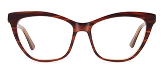 HL0048 Hazel Cateye brown glasses