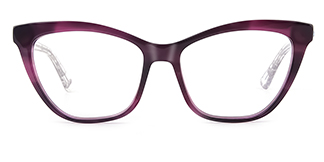 HL0048 Hazel Cateye purple glasses