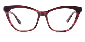 HL0048 Hazel Cateye red glasses