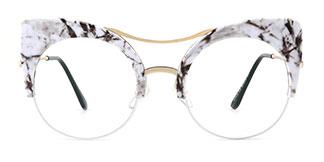 HT012 Janae Cateye white glasses