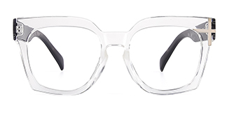 HT058 Danielle Geometric clear glasses
