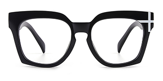 HT058 Danielle Geometric black glasses