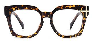 HT058 Danielle Geometric tortoiseshell glasses