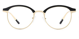HT1008 Jania Oval black glasses