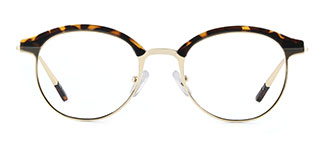 HT1008 Jania Round tortoiseshell glasses