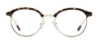 HT1008 Jania Oval tortoiseshell glasses