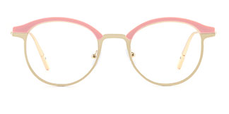 HT1008 Jania Oval pink glasses