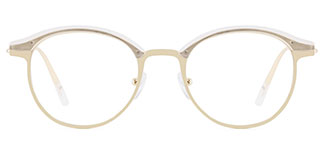 HT1008 Jania Oval white glasses