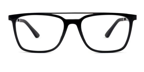 HW8189 Daniel Aviator black glasses