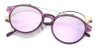 HW936 Marilyn Round purple glasses