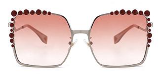 J1051 Lulu Rectangle red glasses