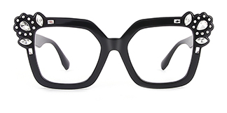 JR66350 Dania Cateye black glasses