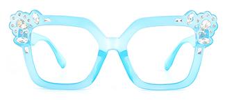 JR66350 Dania Cateye blue glasses