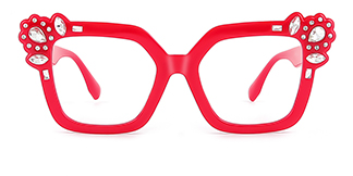 JR66350 Dania Cateye red glasses