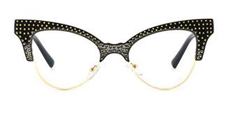 JR66362 Lizzy Cateye black glasses