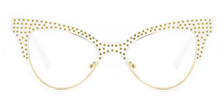 JR66362 Lizzy Cateye white glasses