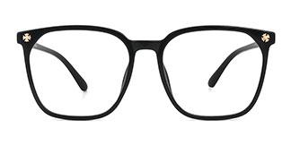 K8009 Letty Rectangle black glasses
