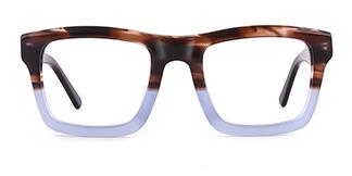 K9102 Darline Rectangle blue glasses