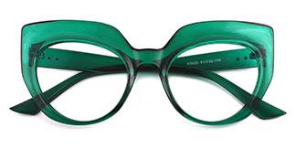 K9620 Sasha Cateye green glasses