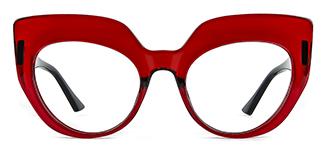 K9620 Sasha Cateye red glasses