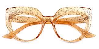 K9620 Sasha Cateye yellow glasses