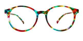 L-952 Niamh Round multicolor glasses