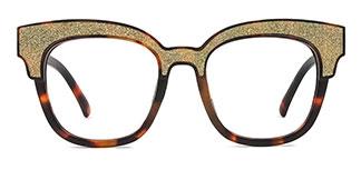L1802 Blondelle Rectangle pink glasses