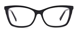 L7316 emerald Rectangle black glasses