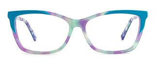 L7316 emerald Rectangle blue glasses