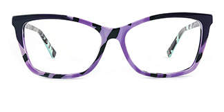 L7316 emerald Rectangle purple glasses