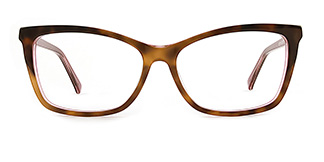 L7316 emerald Rectangle tortoiseshell glasses