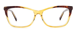L7316 emerald Rectangle yellow glasses