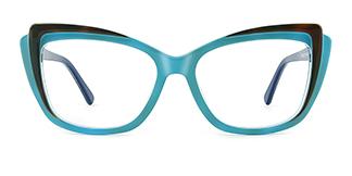 L7323 ritamargaet Cateye blue glasses