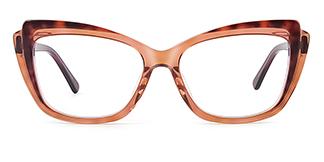 L7323 ritamargaet Cateye brown glasses