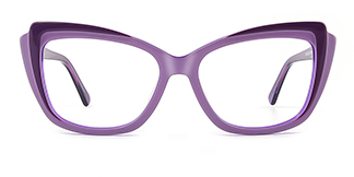 L7323 ritamargaet Cateye purple glasses
