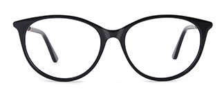 L9921 selma Oval black glasses