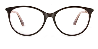 L9921 selma Oval brown glasses