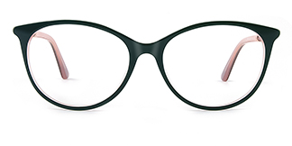 L9921 selma Oval green glasses