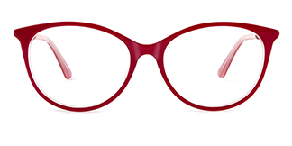 L9921 selma Oval red glasses
