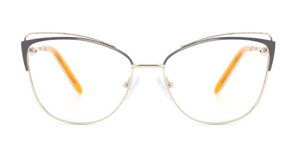 M0002 Pamila Cateye brown glasses