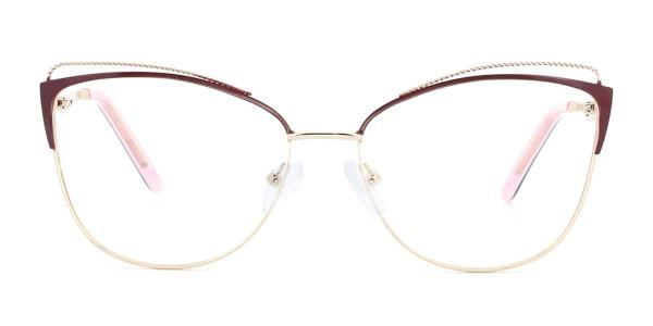 M0002 Pamila Cateye red glasses
