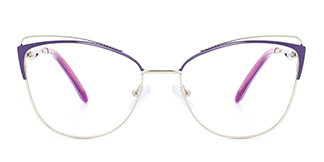 M0002 Pamila Cateye purple glasses