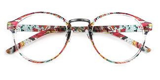 M046 Latanya Round floral glasses