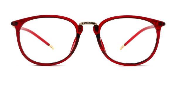 M062 Ingeborg Oval red glasses