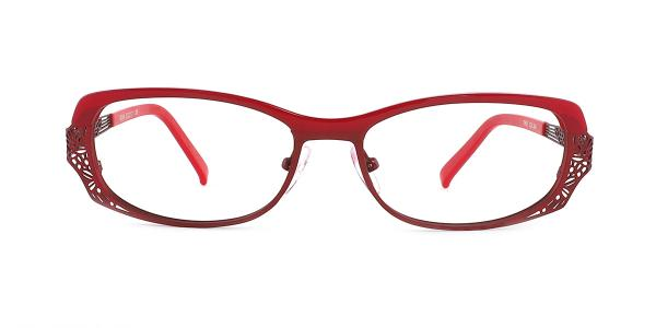 M064 Padraigin Rectangle red glasses