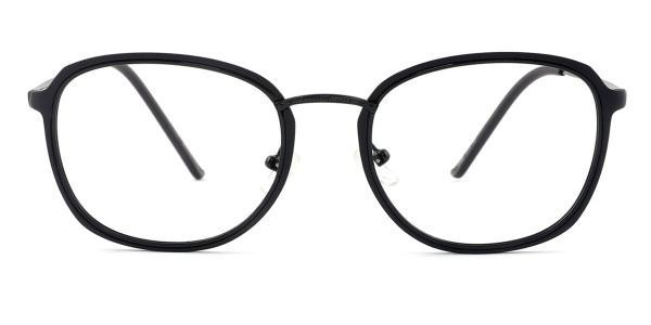 M067 Sally Oval black glasses