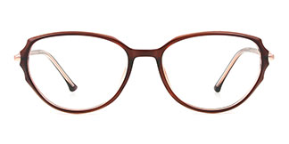 M094 Letha Cateye brown glasses
