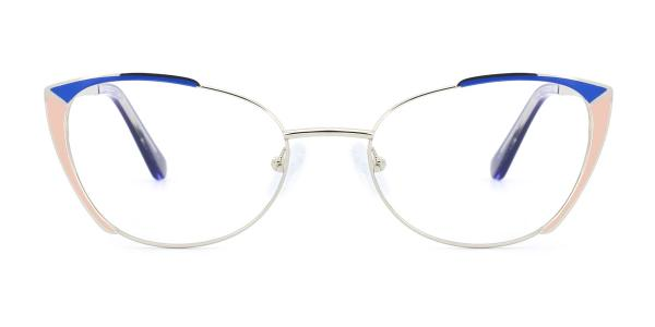 M1002 Pamella Cateye blue glasses